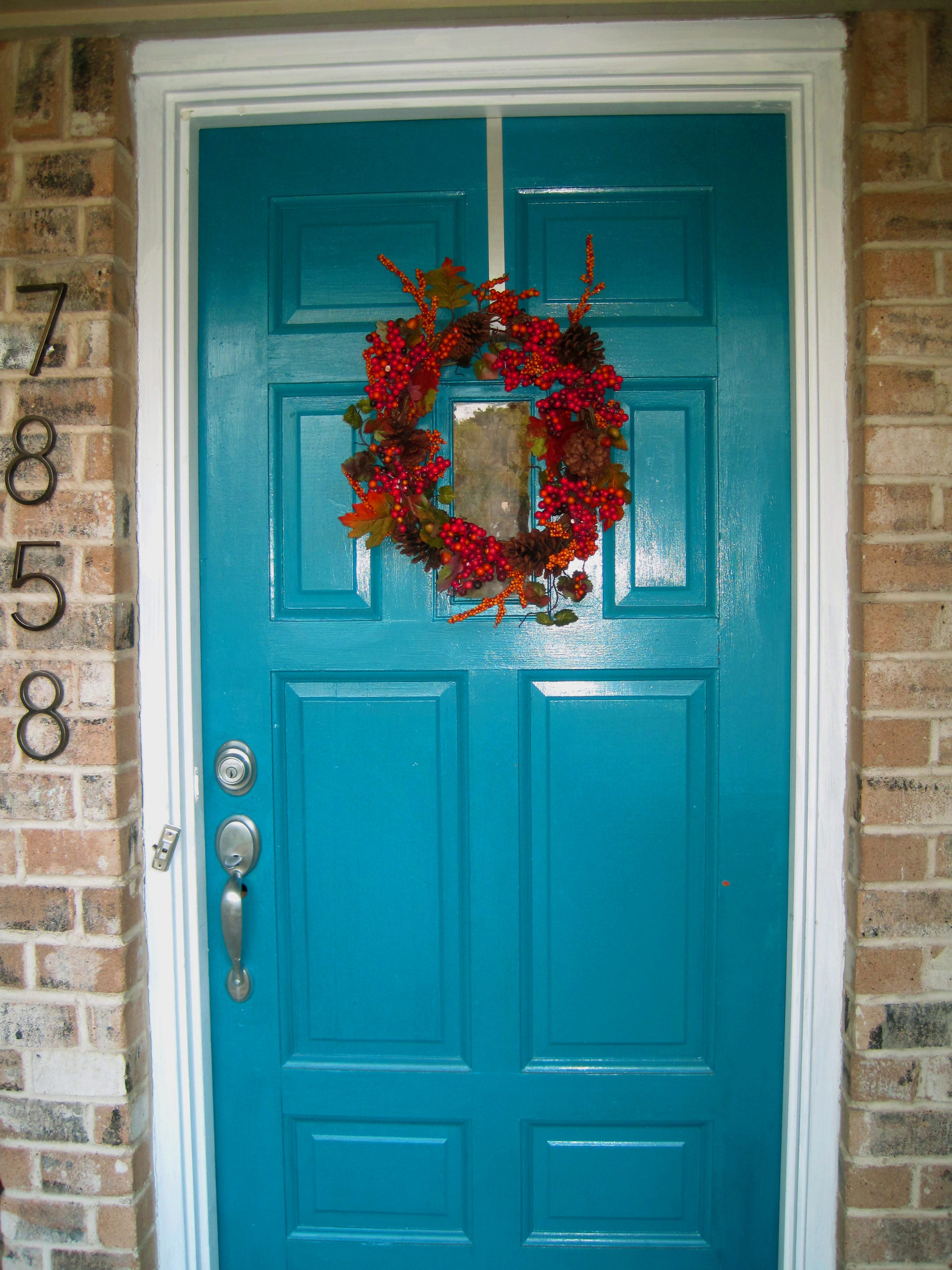 3648 #00505B Mini Makeover – My Colorful Front Door The Nook pic Colorful Front Doors 47112736