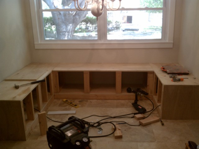 Build it bench seating for the kitchen nook the nook - Kitchen corner nooks ...